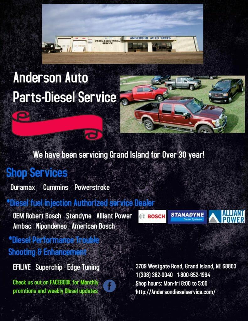 Anderson Auto Parts-Diesel Service - Anderson Auto Parts - Diesel